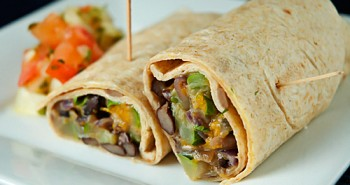 Black Bean Veggie Wraps - Easy Family Recipes