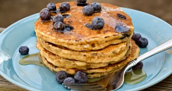 Whole Wheat Blueberry Buttermilk Pancakes - Easy Family Recipes