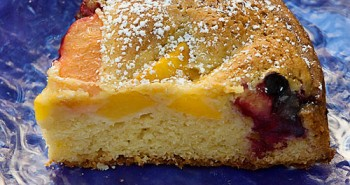 Plum-Peach Olive Oil Coffee Cake - Easy Family Recipes