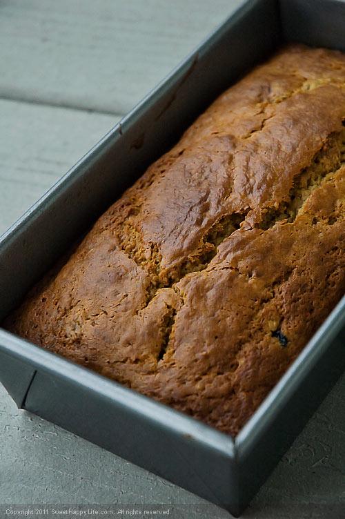 Whole Wheat Banana Blueberry Bread - Easy Family Recipes