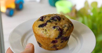 Whole Wheat Blueberry Zucchini Muffins - Easy Family Recipes