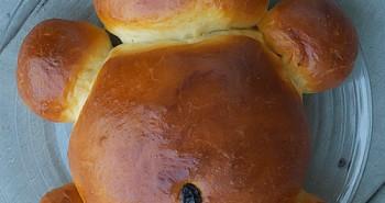 Honey-Vanilla Teddy Bear Challah - Animal Shaped Bread