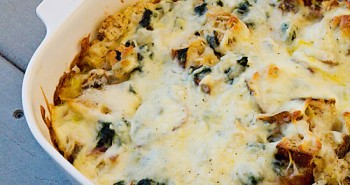 Spinach and Mozzarella Strata - Family Friendly Recipes