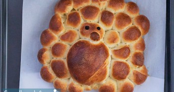 Turkey Shaped Challah Bread