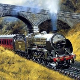 Howard Fogg Train Painting
