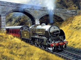 Howard Fogg Train Painting