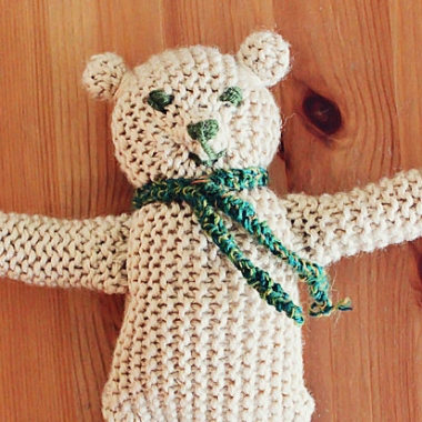 DIY Lavender Heart Knitted Teddy Bear