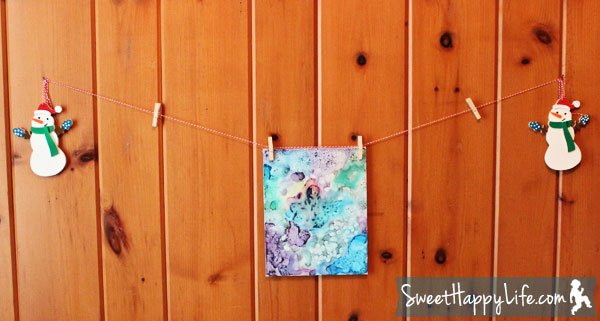 DIY Kids Art Display