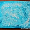 Cotton Ball Snowstorm Painting