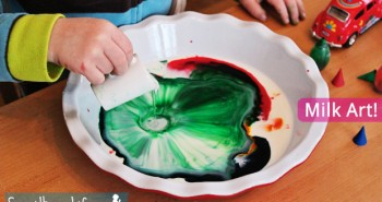 Preschool Milk Art