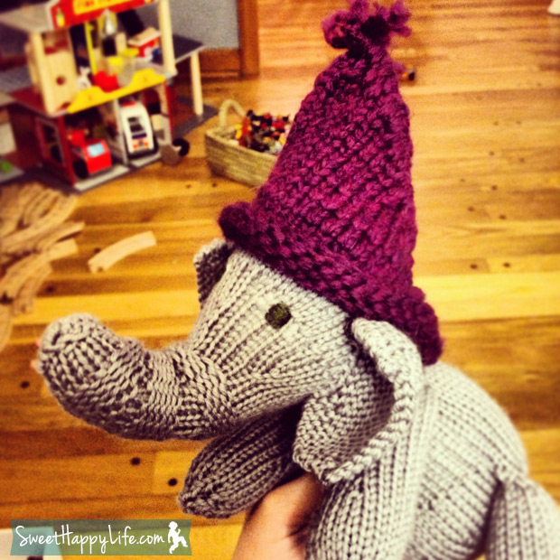DIY Knitted Elephant