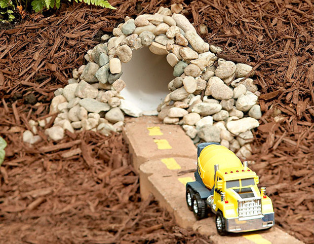 DIY Garden Car Tunnel for Kids