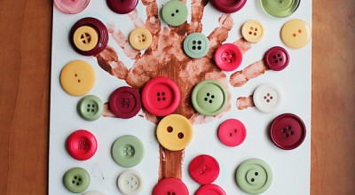 Preschool Button Tree Craft Project