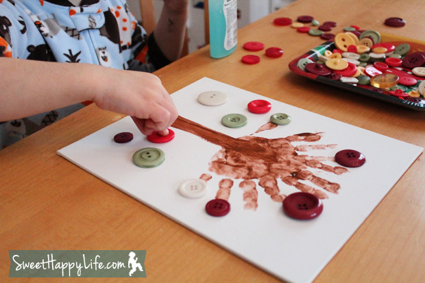 Preschool Button Tree Art Project