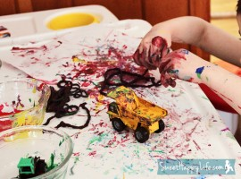 Yarn Painting | Preschool Art Activity