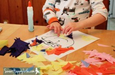 Tissue Paper Portraits | Preschool Art