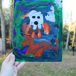 Halloween Handprint Paintings (Preschool Art)