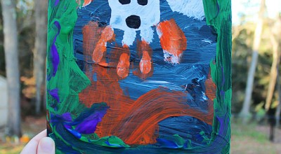 Halloween Handprint Paintings (Preschool Art)