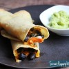 Crispy Black Bean & Sweet Potato Taquitos