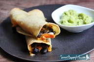 Crispy Black Bean & Sweet Potato Taquitos