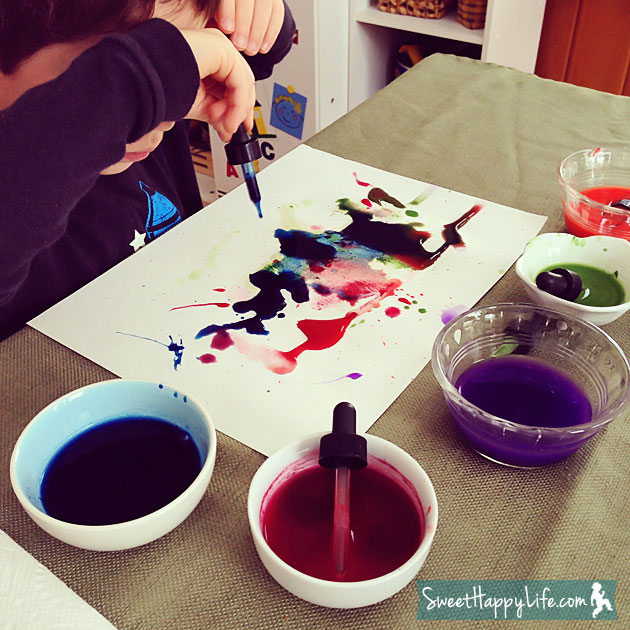 Preschool Watercolor Painting Activity