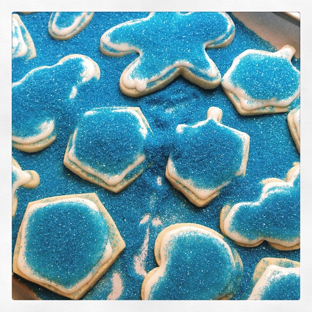 Let's put some sugar on the cookies I said...